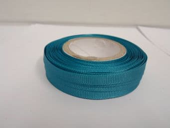 Dark Turquoise Blue Grosgrain ribbon Ribbed Double sided, 3mm, 6mm 10mm 16mm 22mm 38mm 50mm